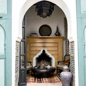 Suite with private fire in Marrakech.