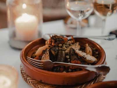 Vegan, vegetarian, gluten-free and allergen free dishes in the restaurant.