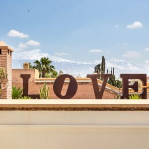 Love letters at the rooftop of the riad.