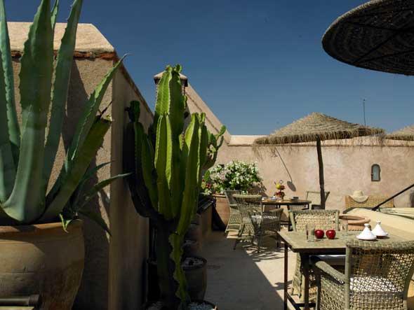 Rooftop restaurant Marrakech (Ryad Dyor).