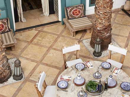 Restaurant of the hotel in Marrakech.