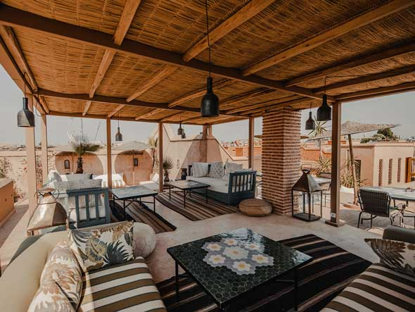 Our rooftop riad in Marrakech is the best spot to relax.