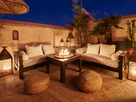 Ryad Dyor has the perfect rooftop bar in Marrakech to enjoy the sunset.
