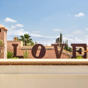 Love letters at the rooftop terrace of Ryad Dyor Marrakech.
