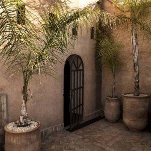 Entrance rooftop terrace in Marrakech.